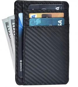 Quality Leather Wallets for Men & Women – RFID Blcking Slim Design Front Pocket Minimalist Wallet for sale