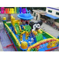 Quality Large Inflatable Mickey Mouse Bouncer Fun City For Amusement Parks for sale