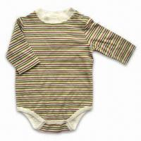 Quality Baby Romper, Customized Colors are Accepted, Made of 100% Cotton Knitted Fabric for sale