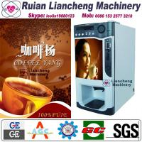 Quality automatic coffee vending machine Bimetallic raw material 3/1 microcomputer Automatic Drip coin operated instant for sale