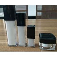 Quality the man cosmetic packing 15ml silver cap square acrylic pump bottles 30g acrylic cream jar for face skin for sale