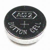 Quality 1.5V Alkaline Button-cell Battery with 0 to 45°C Temperature Range, Measures 7.8 x 2.6mm for sale