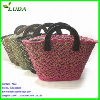 Quality Paper String and Mesh Tote Bag w/wood buttons for sale