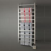 China 11 Bars square stainless steel wall mounted pratical  elegant  safety heated towel rail on sale