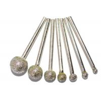 Quality Ball Head Diamond Burr Bits / Glass Engraving Burrs For Electric Grinding Accessories for sale