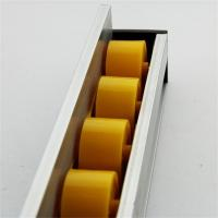 Quality Higher Side Aluminum Extruded Shapes Track Yellow Wheel 4 M 34mm Diameter for sale