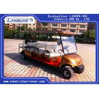 Quality 8 Seater 3 Rows Forward 1 Row Backward Electric Club Car With Curtis Controller For Hotel Reasort for sale