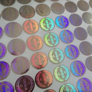 China Custom design secure label packaging / shining 3D hologram label / adhesive hologram sticker on sale