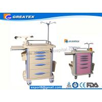 Buy cheap Hospital Emergency Trolley For Medical With SS304 Guard Rail Pink Grey Orange from Wholesalers