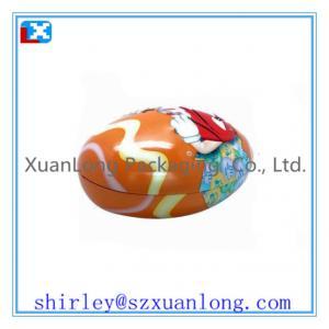 China wholesale egg shape tin for candy www.xuanlongpackagingco.com on sale
