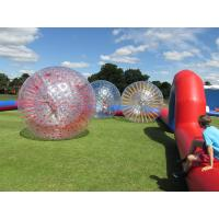 China Grass Red Cord Inflatable Zorb Ball Inflatable Human Hamster Ball 2.8m x 1.8m Dia on sale