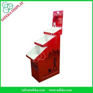 Quality Cardboard pop display 3 tier Customized  printed Promotion Rack Supermarket advertising shelf Cardboard trays for sale