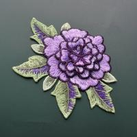 Quality Polyester Embroidered Floral Appliques For Jackets 11 CM X 9 CM Multi Color Available for sale