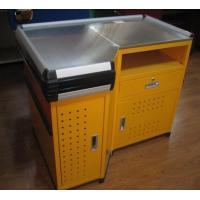 Quality Design Shop Express Checkout Counter , Steel Cash Register Counter For Supermarket for sale