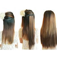14-28  Long Lasting Synthetic Hair Extensions Weft Soft Tangle Shed Free