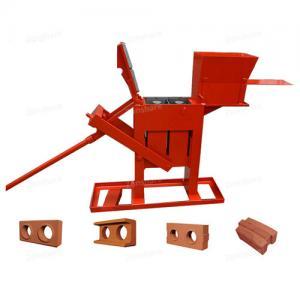 China Large Capacity Manual Brick Press Machine , Block Making Machine Long Life on sale