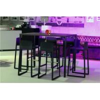 Quality Modern Bar Furniture Counter Stools With Backs , Commercial Grade Bar Furniture Set for sale