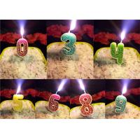 Quality Rose Design 0 - 9 Number Birthday Candles For Birthday Party , Customized Color for sale