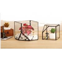 Quality Handmade Flower Square Decorative Glass Craft Micro Landscaper Plant Mini House for sale