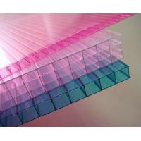 China Customized Pink / Blue / Orange Soundproof Polycarbonate Hollow Sheet For Stadiums on sale