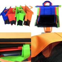 Quality 4pcs/Set Cart Trolley Supermarket Shopping Eco Bags Foldable Reusable rolley Shopping Cart shopping colors  Bag for sale