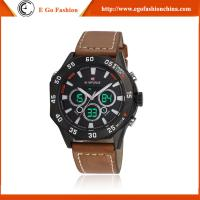 Quality Pilot Watch Hip Hop Dancing Watches Man Genuine Leather Watch Quartz Analog Watch for Men for sale