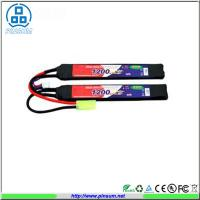 Quality Rechargeable RC Airsoft LiPo Battery Packs 20C 11.1V 1200mAh Long Bar Battery Packs for sale