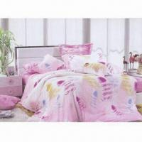 Quality 100% Cotton Printed Bedding Set, Includes 1 Sheet Cover, 2 Pillow Cases and 1 Bed Sheet for sale