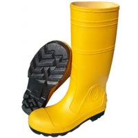 China Anti Impact Safety Rain Boots / Yellow Rubber Work Boots For Mechanical Construction on sale