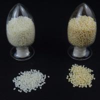 Quality Yellow PES Adhesive Hot Melt Glue Granules Oval Shape For Heat Resistant Metal Glue for sale