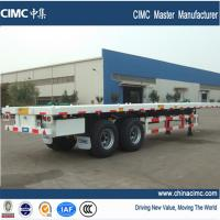 Quality Africa flatbed trailer , 40 ft flatbed trailer for bad road condition for sale