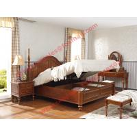 Quality Ancient Rome style Solid Wood Bed with Storage in Bedroom Furniture sets for sale