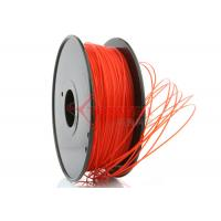 Quality 3D Printer 3mm PLA Filament Red  High Stiffness 1kg Spool , recycle 3d printer filament for sale