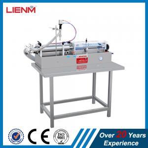 China Full Pneumatic Semi Automatic Liquid Soap Detergent Filling Machine on sale