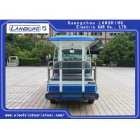 Quality 72V 14 Seats Electric Shuttle Vehicles For Multi Passenger 28km/H Max. Speed Balck Seat With Curtain for sale
