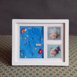 Quality Ornament Keepsake Picture Frame 28X23CM Handprint and Footprint Frame Kit for sale