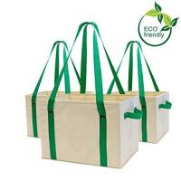 Quality Heavy Duty Collapsible Recycle Shopping Bags With Fold Up Reinforced Bottom for sale