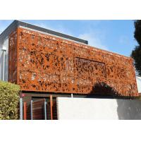 Quality Laser Cut Corten Steel Panel / Screen Metal Wall Sculpture Rusty Naturally for sale