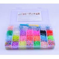 Buy cheap DIY make rubber band bracelet loom rainbow colorful loom bands kit rubber band from Wholesalers