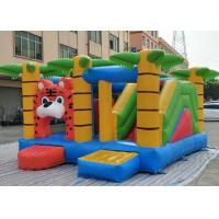 Quality Three In One Inflatable Bounce House Combo Jungle Themed Tiger Jumper With Sport Obstacles for sale