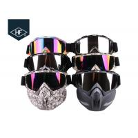 Quality Motorcycle Riding Accessories Anti Fog Ski Goggles  , TPU Frame Motorcycle Riding Glasses for sale