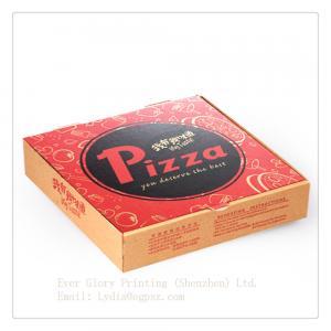 China Flip pizza packing box corrugated paper packing box lunch packing box on sale