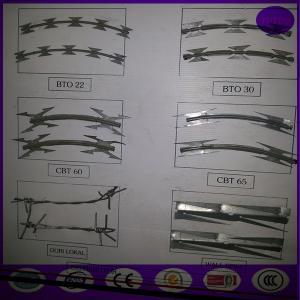 Quality Razor Wire BTO-22 Concertina Barbed Roll for sale