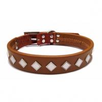 Quality 2012 wholesale real leather dog collar, collar for dog for sale