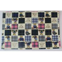 Quality Fashionable Embroidery Dining Table Mats With Cute Bear Printed for sale