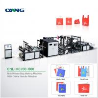 China Environmental Non Woven Carry Bags Manufacturing Machine With Loop Handle Sealing on sale