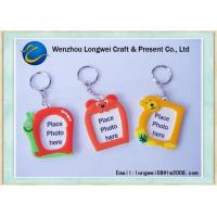 Quality Coin Holder Paper Card Inside Plastic Keychain / Craft Keyring for sale