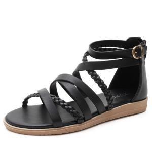 Quality BS049 Amazon Bohemian Sandals Women New Large Size Women'S Shoes 41-43 Summer Woven Roman Sandals Women for sale