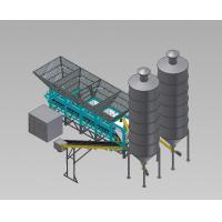 Quality Portable Ready Mix Concrete Plants With Auger , 100 M³/H  Ready Mix Batching Plant for sale