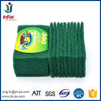 China INFOK heavy duty abrasive nylon green kitchen cleaning scouring pads on sale